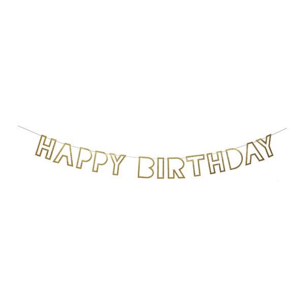 Ghirlanda Happy Birthday Silver