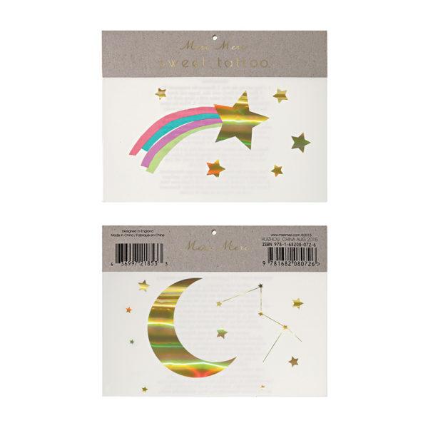 Tatuaggi Rainbow Shooting Star