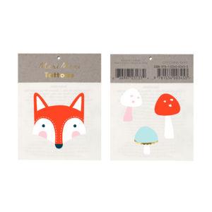 Tatuaggi Fox & Mushrooms 1
