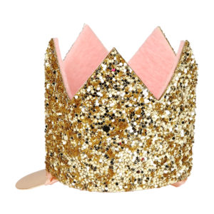 Mini clip per capelli Glittered Crown