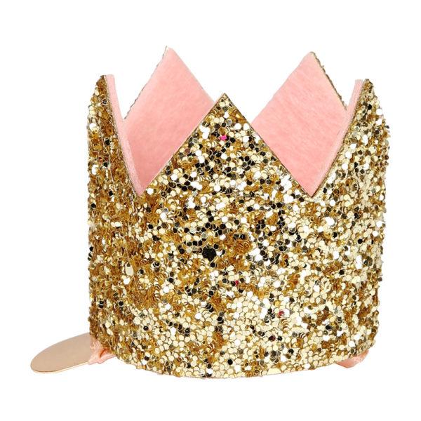 Mini clip per capelli Glittered Crown