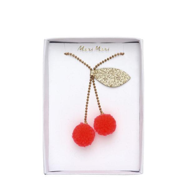 Collana Cherry Pompom