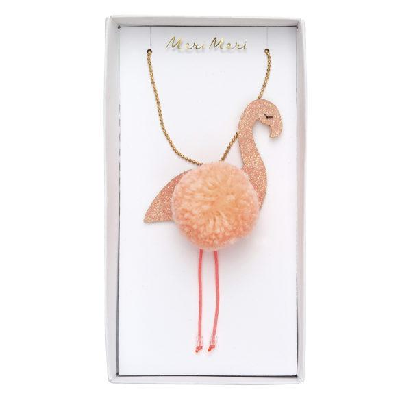 Collana Flamingo Pompom