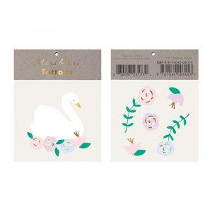 Tatuaggi Floral Swan  1