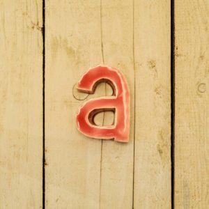 Lettera Minuscola 'A' Fucsia 1