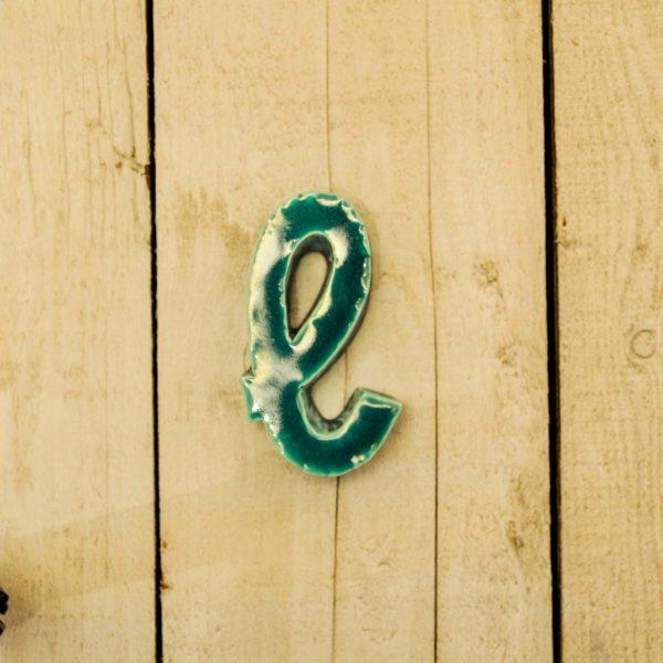 Lettera Minuscola 'L' Azzurro