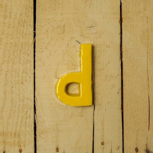 Lettera Minuscola 'D' Gialla