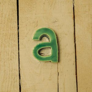 Lettera Minuscola 'A' Azzurra 1