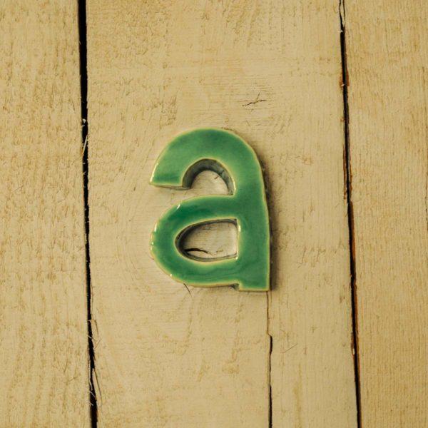 Lettera Minuscola 'A' Azzurra