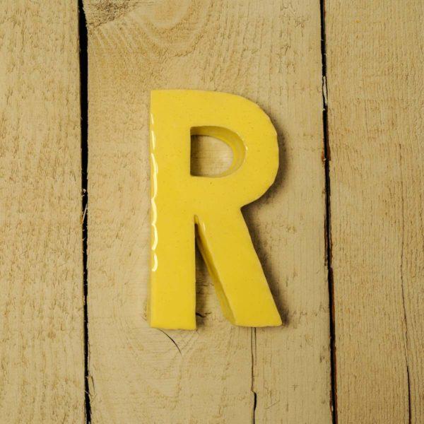 Lettera Maiuscola 'R' Gialla