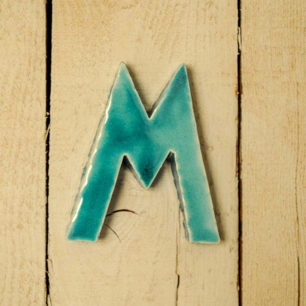 Lettera Maiuscola 'M' Azzurra