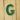 Lettera Maiuscola 'G' Verde 1