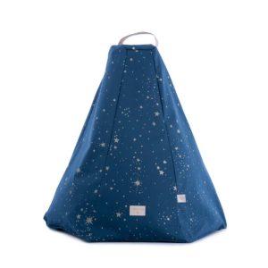 Pouff Marrakech gold stella / night blue 1
