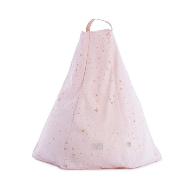 Pouff Marrakech gold stella / dream pink