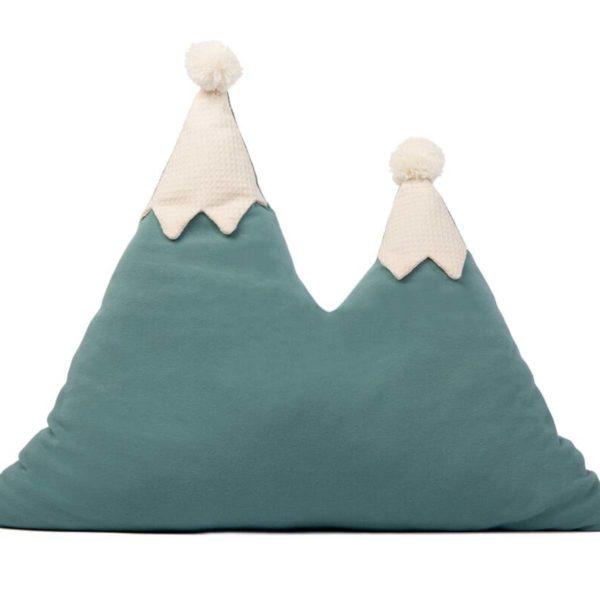Snowy Mountain Cuscino magic green