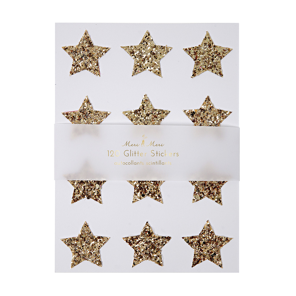 Sticker Chunky Gold Glitter Star 1