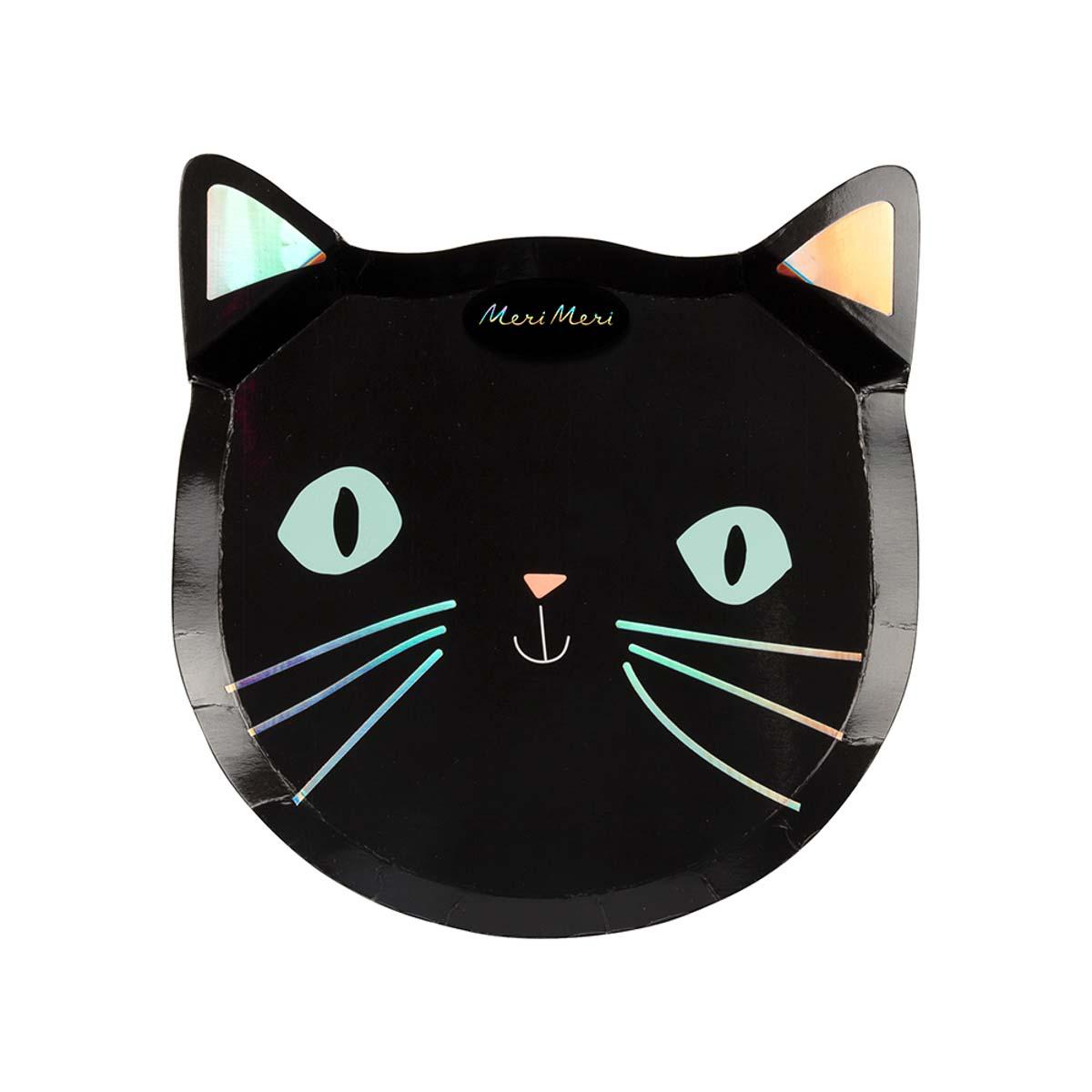 Piatti Black Cat Halloween