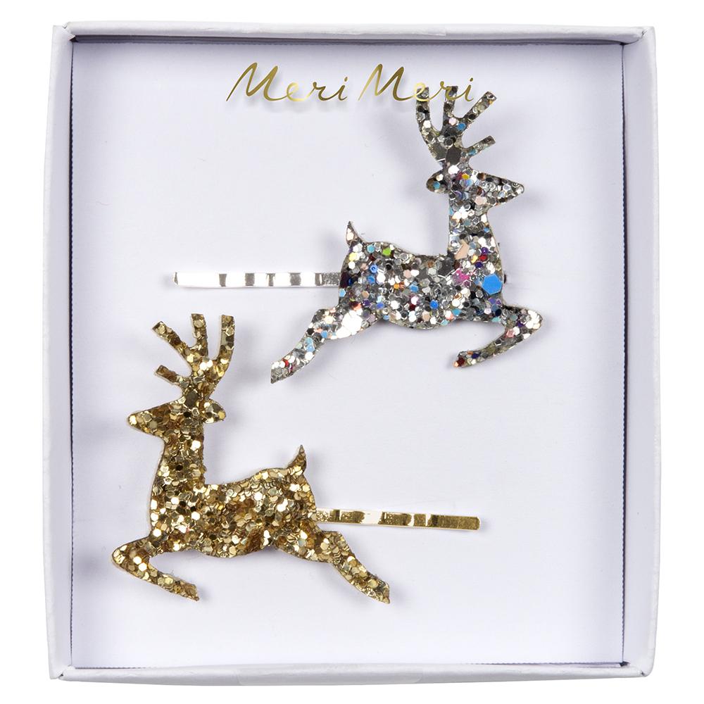Fermagli Glitter Reindeer