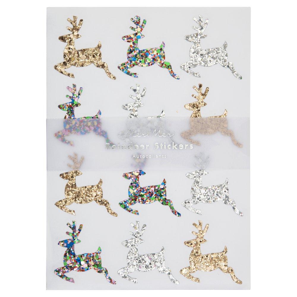 Sticker Glitter Reindeer 1
