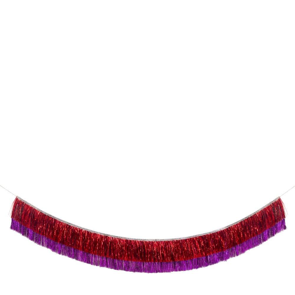 Ghirlanda Red & Pink Tinsel Fringe