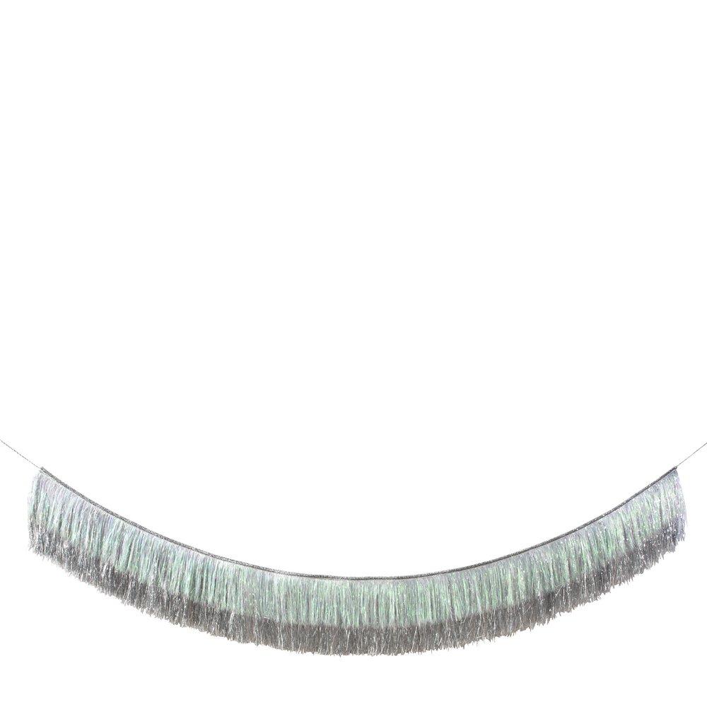 Ghirlanda Silver Iridescent Tinsel Fringe
