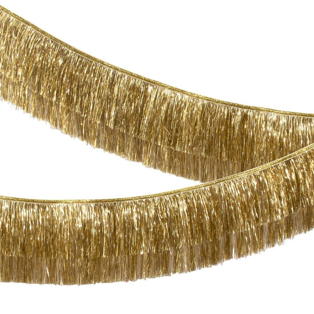 Ghirlanda Gold Tinsel Fringe
