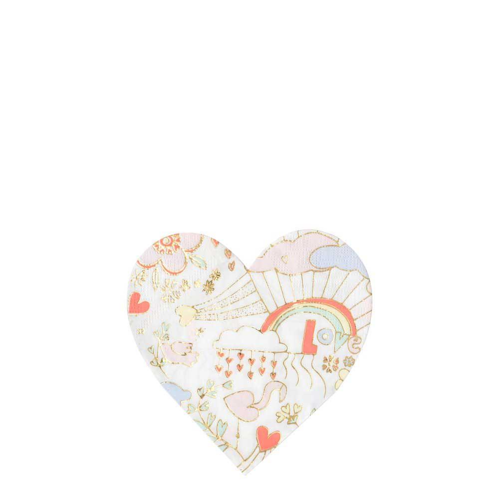 Tovaglioli Small Valentine Doodle