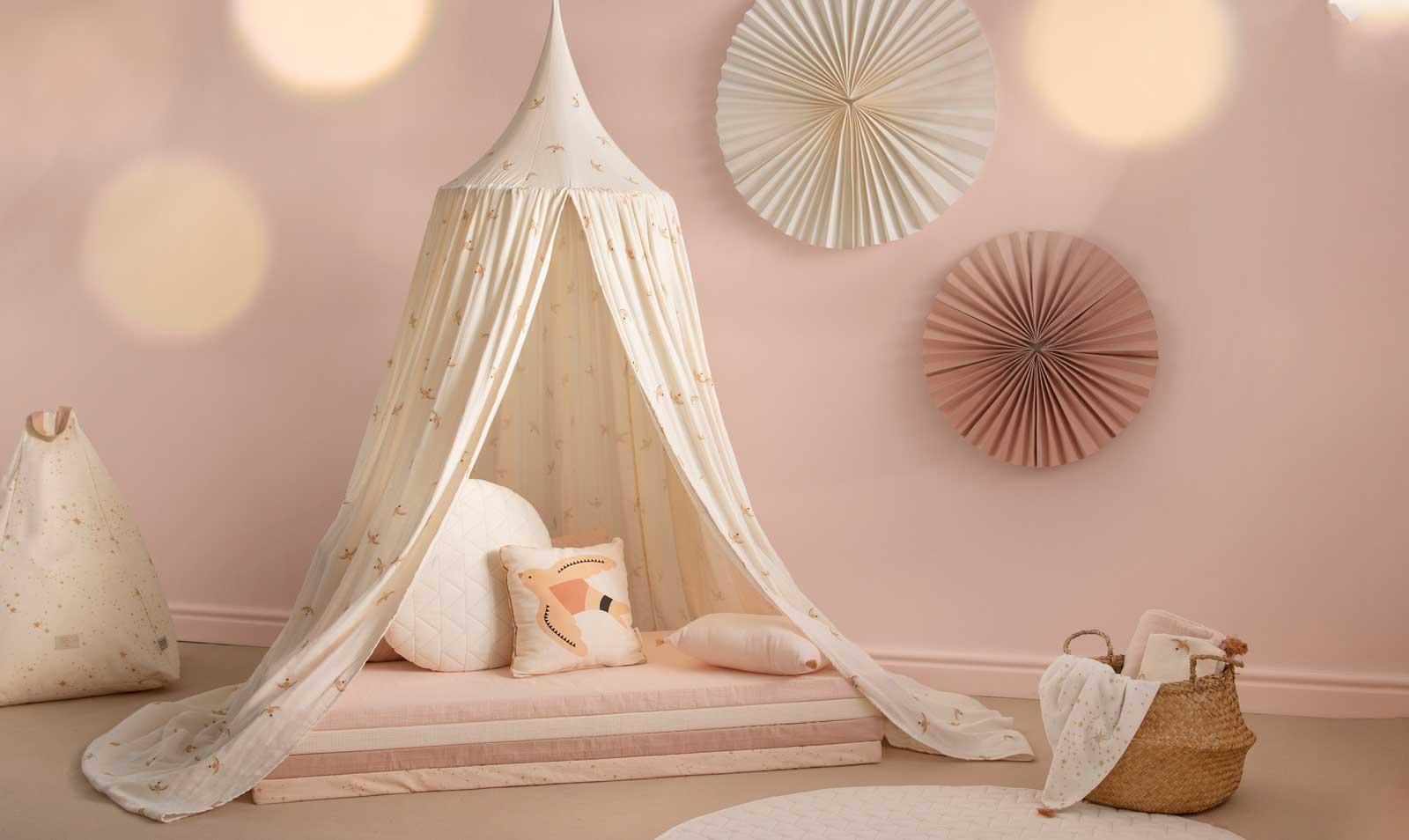 nobodinoz mood canopy amour haiku birds ciel de lit