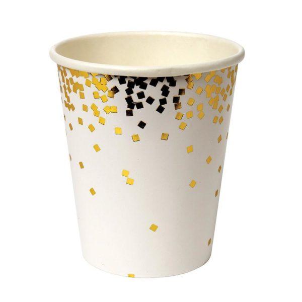 meir meri bicchieri oro square confetti