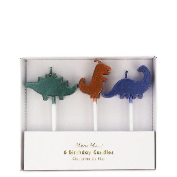 meri meri candele dinosauri