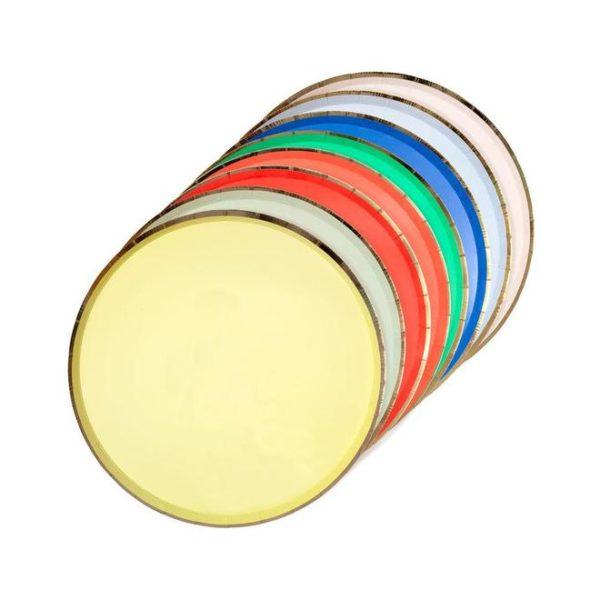 piatti colorati festa