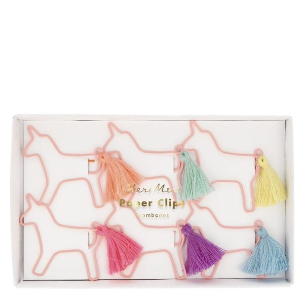 fermagli carta unicorni