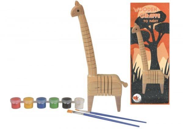 giraffa in legno da dipingere