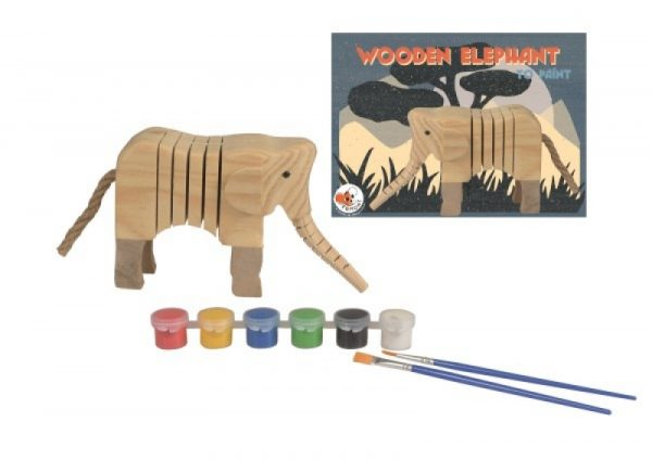 elefante in legno da dipingere