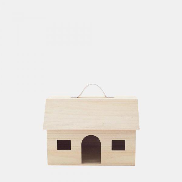 casetta bambole legno