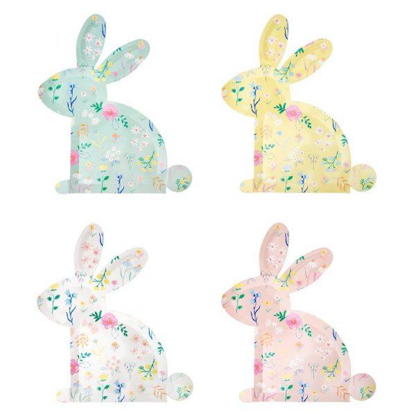 piatti coniglio fiori